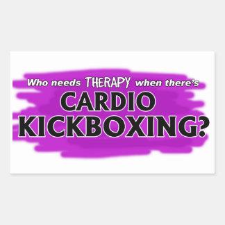 ¿Quién necesita terapia cuando hay Kickboxing Pegatina Rectangular