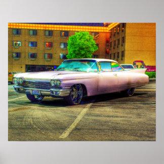 quién no ama Cadillac rosado Póster