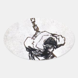 ¿Quién puede pensar en él? por Francisco Goya Pegatina Ovalada