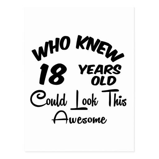 Quién sabía 18 años. postales