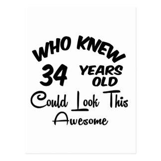 Quién sabía 34 años. postal