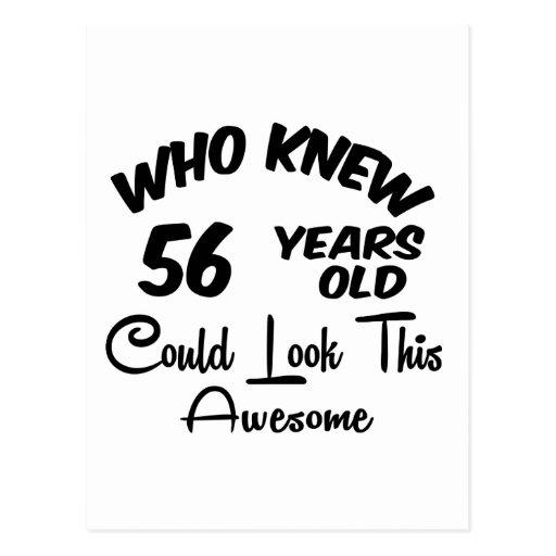 Quién sabía 56 años. postales