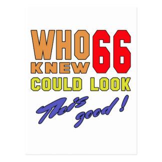 ¡Quién sabía 66 podrían mirar bueno esto! Postal