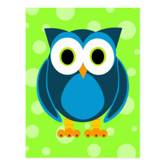 ¿Quién? Sr. Owl Cartoon Postal