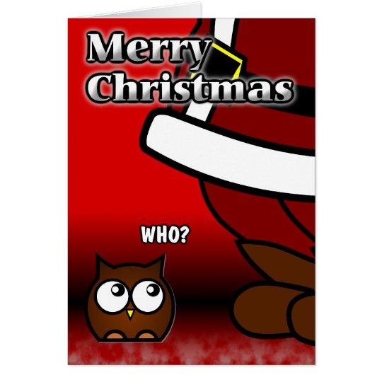 ¿Quién? Tarjeta de Navidad