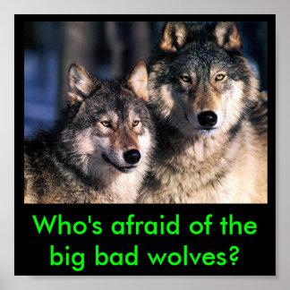 ¿Quién tiene miedo de los malos lobos grandes? Póster