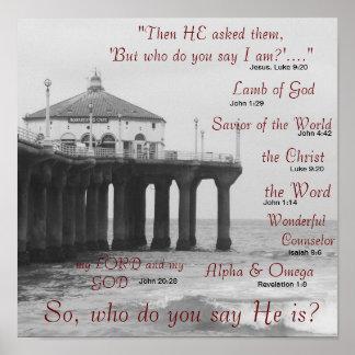 ¿Quién usted dice Jesucristo es? Póster