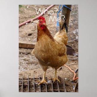 ¿Quién usted pollo del call'in? Poster