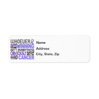 Quienquiera dijo al cáncer del esófago etiquetas de remite