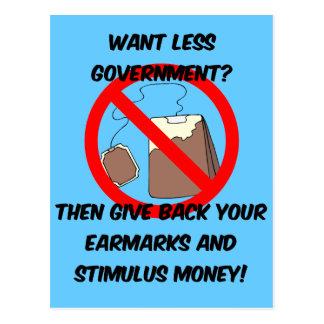 quiera a menos gobierno tarjeta postal