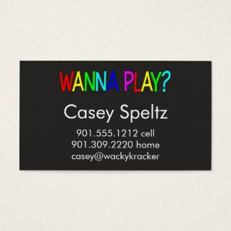 Quiera jugar tarjetas de visita
