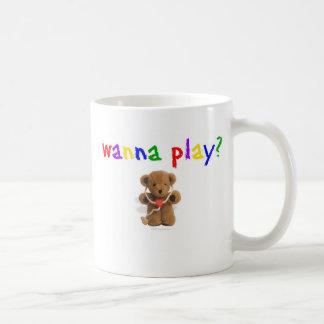 ¿Quiera jugar? Taza De Café