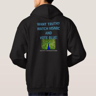 ¿Quiera la verdad? Sudadera con capucha del jersey