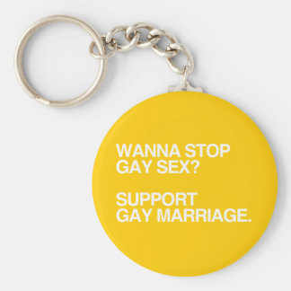 QUIERA PARAR MATRIMONIO HOMOSEXUAL LLAVERO REDONDO TIPO CHAPA