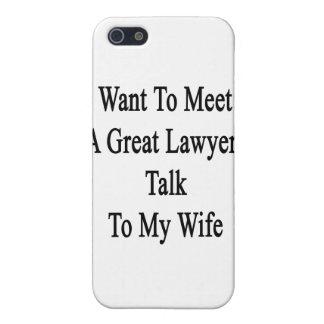 Quiera resolver una gran charla del abogado a mi e iPhone 5 funda