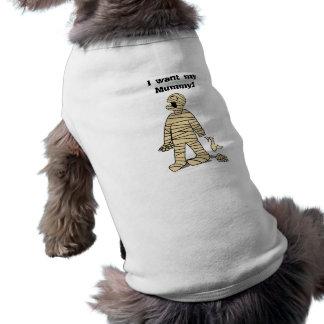Quiero a mi momia divertida Halloween de la momia Camiseta Sin Mangas Para Perro