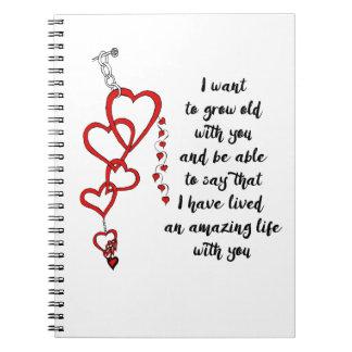 Quiero crecer viejo con usted cuaderno