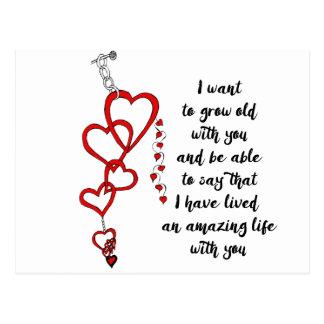 Quiero crecer viejo con usted postal