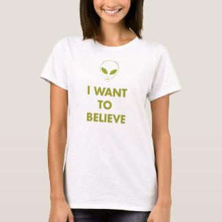 Quiero creer (el verde del extranjero) camiseta