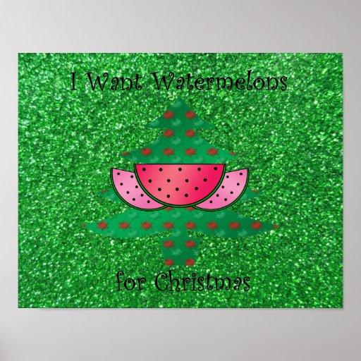 Quiero las sandías para el navidad poster