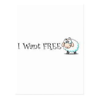 Quiero libremente postal
