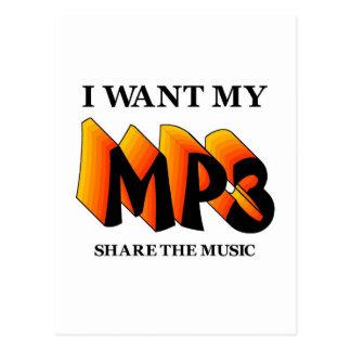 Quiero mi MP3 Tarjetas Postales