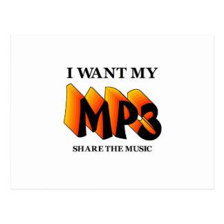 Quiero mi MP3 Tarjeta Postal