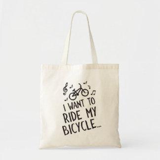 Quiero montar mi bicicleta bolso de tela