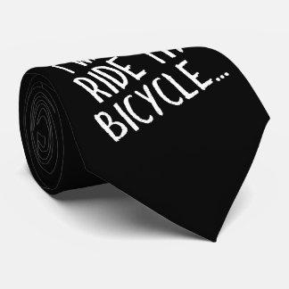 Quiero montar mi bicicleta corbatas personalizadas