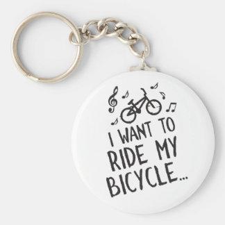 Quiero montar mi bicicleta llavero