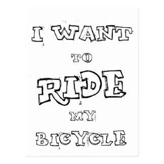 Quiero montar mi bicicleta postal
