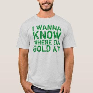 Quiero saber dónde oro de DA en la camiseta