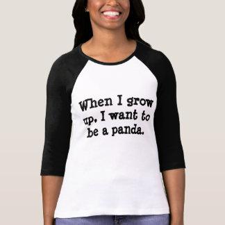Quiero ser una panda camisetas
