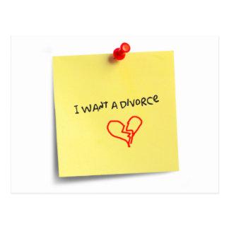 Quiero un divorcio postal