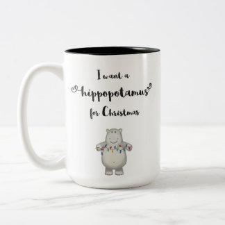 Quiero un hippopotamus para el navidad - taza