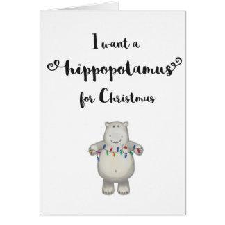 Quiero un Hippopotamus para la tarjeta del