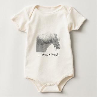 Quiero un potro body para bebé