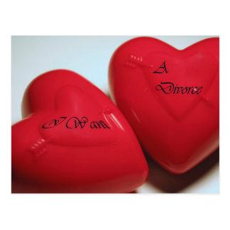 Quiero una postal de los corazones H del divorcio