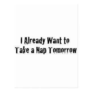 Quiero ya una siesta mañana postal