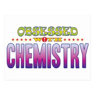 Química 2 obsesionada tarjeta postal