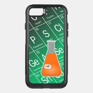 Química anaranjada del frasco de Erlenmeyer (con Funda Commuter De OtterBox Para iPhone 7
