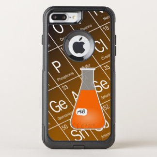Química anaranjada del frasco de Erlenmeyer (con Funda Commuter De OtterBox Para iPhone 7 Plus