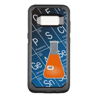 Química anaranjada del frasco de Erlenmeyer (con Funda Otterbox Commuter Para Samsung Galaxy S8