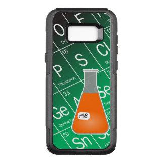 Química anaranjada del frasco de Erlenmeyer (con Funda Otterbox Commuter Para Samsung Galaxy S8+