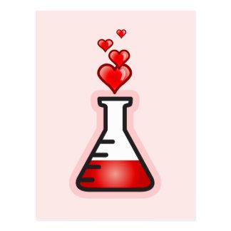 Química de la poción de amor ciencia de la salud tarjetas postales