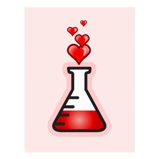 Química de la poción de amor, ciencia de la salud tarjetas postales