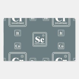 Química del negocio pegatina rectangular