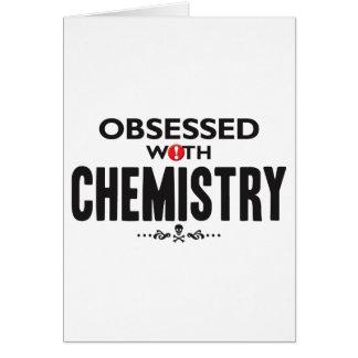 Química obsesionada tarjeta de felicitación