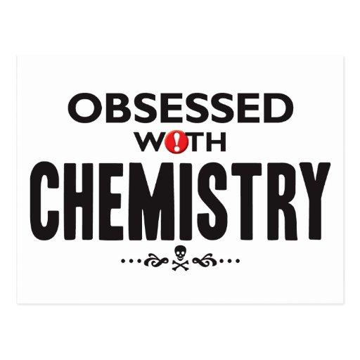 Química obsesionada tarjeta postal