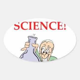química pegatina ovalada